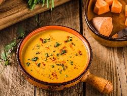 Лютива крем супа от сладки картофи (батат) с кокосово мляко - снимка на рецептата